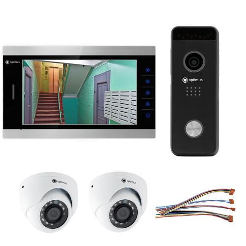 Комплект видеодомофона для дома Premium 10.1˝ TFT - 2.1Мп (2*камера)
