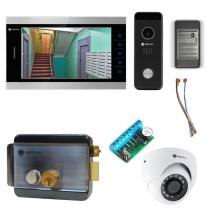 Комплект видеодомофона для квартиры Premium 10.1˝ TFT - 2.1Мп (электромеханический замок, считыватель, камера)