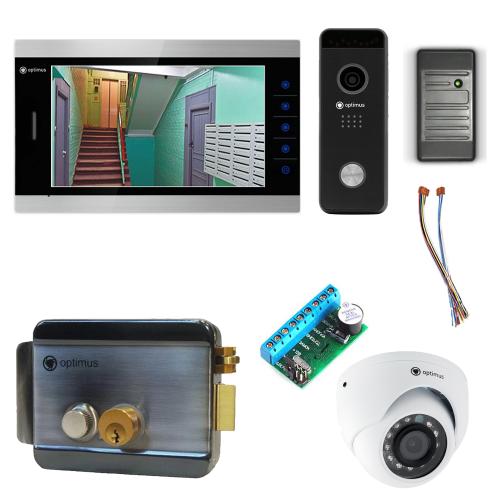 Комплект видеодомофона для дома Premium 10.1˝ TFT - 2.1Мп (электромеханический замок, считыватель, камера)