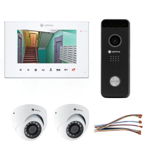 Комплект видеодомофона для дома Premium 7˝ TFT - 2.1Мп (2*камера)