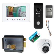 Комплект видеодомофона для склада Premium 7˝ TFT - 2.1Мп (электромеханический замок, считыватель, камера)