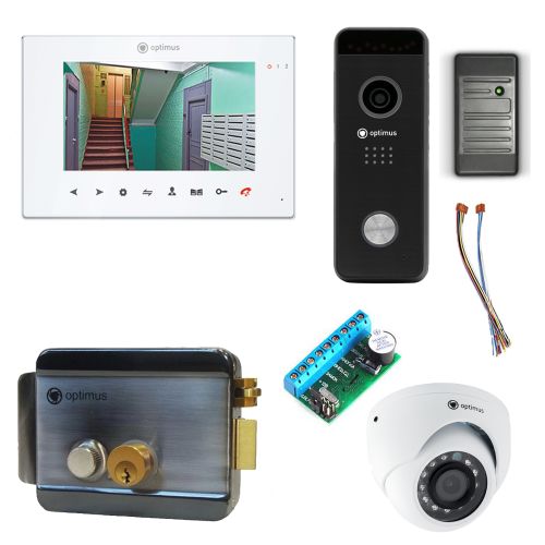 Комплект видеодомофона для квартиры Premium 7˝ TFT - 2.1Мп (электромеханический замок, считыватель, камера)