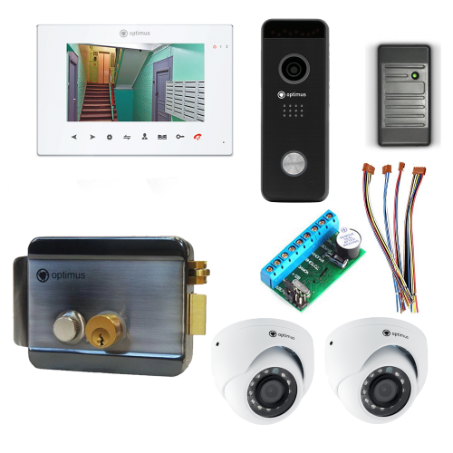 Комплект видеодомофона для дачи Premium 7˝ TFT - 2.1Мп (электромеханический замок, считыватель, 2*камера)