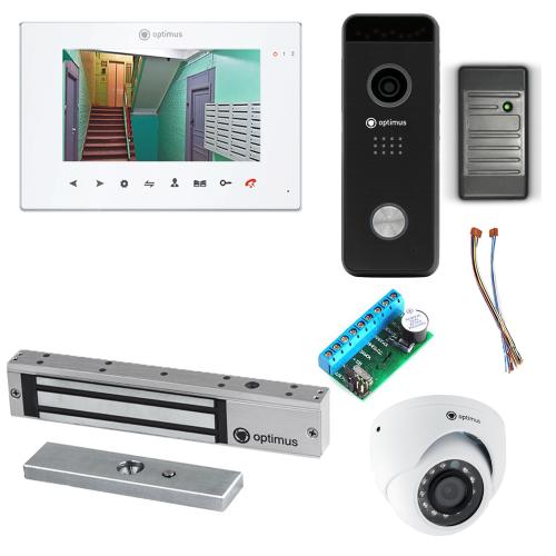 Комплект видеодомофона для дома Premium 7˝ TFT - 2.1Мп (электромагнитный замок, считыватель, камера)