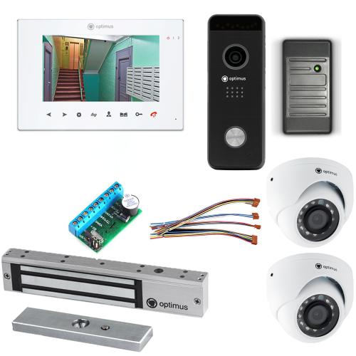 Комплект видеодомофона для квартиры Premium 7˝ TFT - 2.1Мп (электромагнитный замок, считыватель, 2*камера)