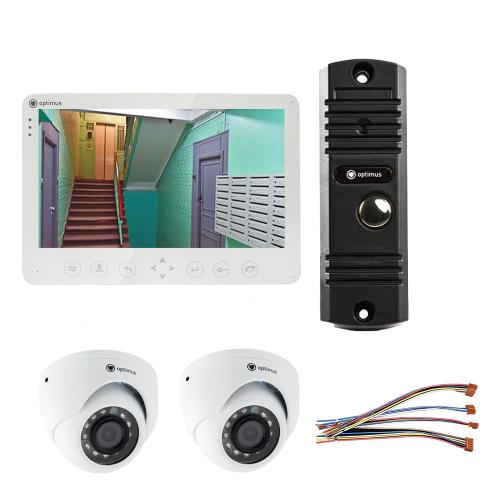 Комплект видеодомофона для дачи Light 10.1˝ TFT - 1Мп (2*камера)