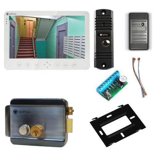 Комплект видеодомофона для дачи Light 10.1˝ TFT - 1Мп (электромеханический замок, считыватель)