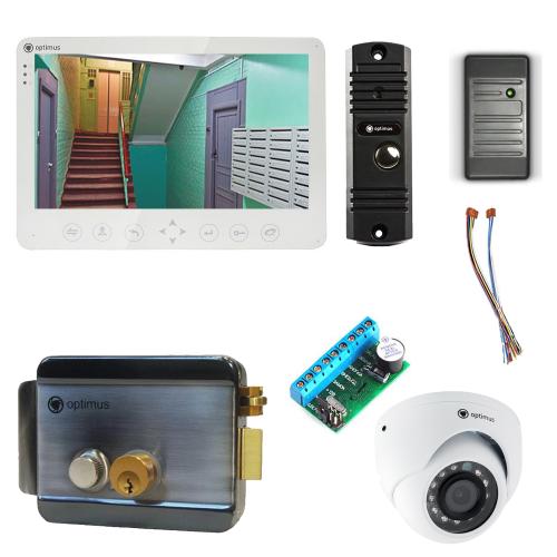 Комплект видеодомофона для дачи Light 10.1˝ TFT - 1Мп (электромеханический замок, считыватель, камера)