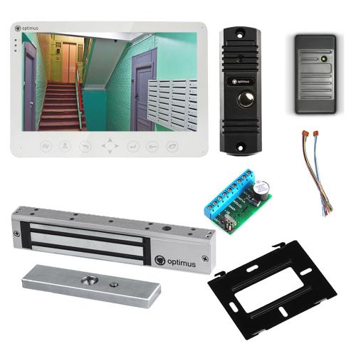Комплект видеодомофона для дачи Light 10.1˝ TFT - 1Мп (электромагнитный замок, считыватель)