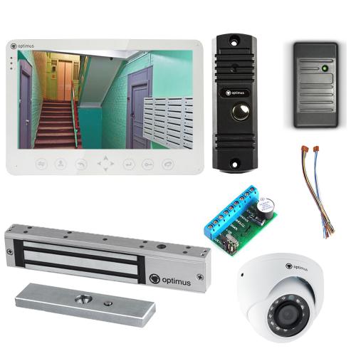 Комплект видеодомофона для дачи Light 10.1˝ TFT - 1Мп (электромагнитный замок, считыватель, камера)