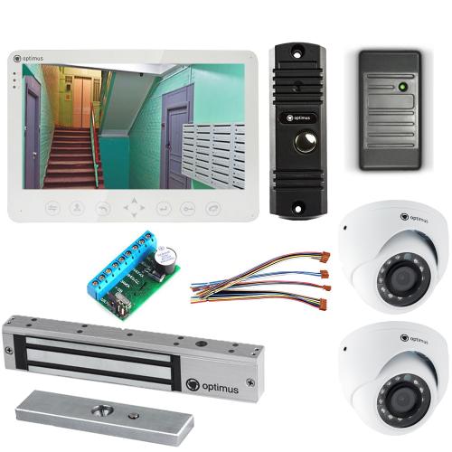Комплект видеодомофона для дачи Light 10.1˝ TFT - 1Мп (электромагнитный замок, считыватель, 2*камера)