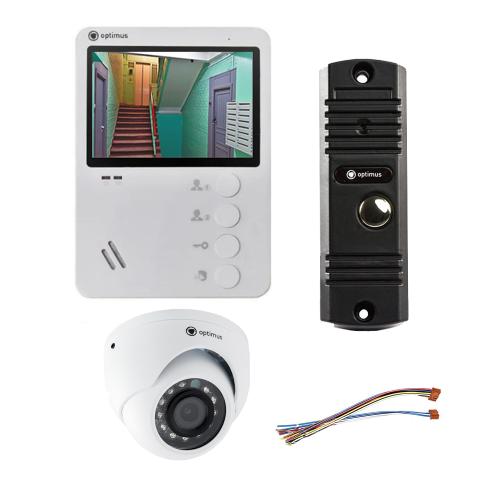 Комплект видеодомофона для дачи Light 4.3˝ TFT - 0.3Мп (камера)