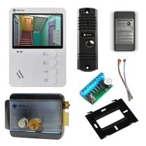Комплект видеодомофона для квартиры Light 4.3˝ TFT - 0.3Мп (электромеханический замок, считыватель)