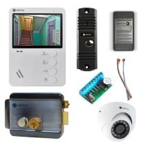 Комплект видеодомофона для офиса Light 4.3˝ TFT - 0.3Мп (электромеханический замок, считыватель, камера)