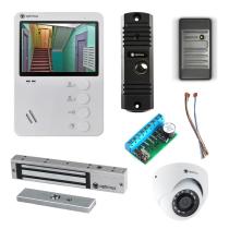 Комплект видеодомофона для квартиры Light 4.3˝ TFT - 0.3Мп (электромагнитный замок, считыватель, камера)