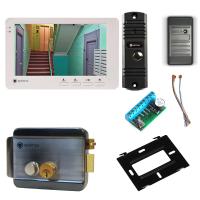Комплект видеодомофона для офиса Light 7˝ TFT - 1Мп  (электромеханический замок, считыватель)