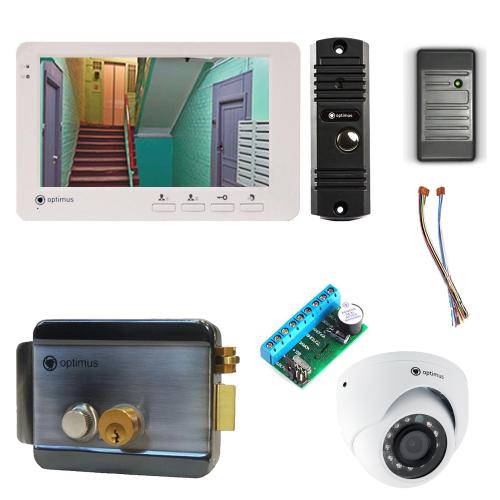 Комплект видеодомофона для квартиры Light 7˝ TFT - 1Мп  (электромеханический замок, считыватель, камера)