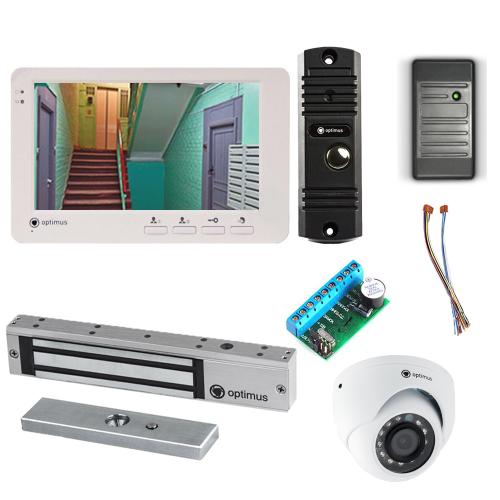 Комплект видеодомофона для дома Light 7˝ TFT - 1Мп  (электромагнитный замок, считыватель, камера)