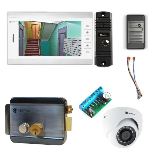 Комплект видеодомофона для дачи Standart 10.1˝ TFT - 1Мп (электромеханический замок, считыватель, камера)