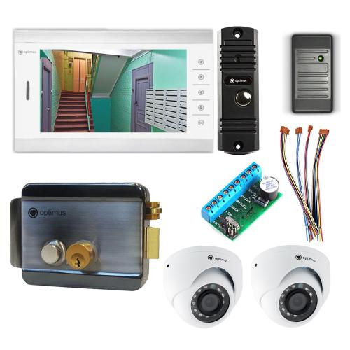 Комплект видеодомофона для дачи Standart 10.1˝ TFT - 1Мп (электромеханический замок, считыватель, 2*камера)