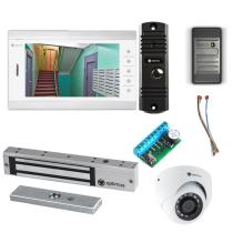Комплект видеодомофона для офиса Standart 10.1˝ TFT - 1Мп (электромагнитный замок, считыватель, камера)