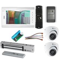 Комплект видеодомофона для склада Standart 10.1˝ TFT - 1Мп (электромагнитный замок, считыватель, 2*камера)