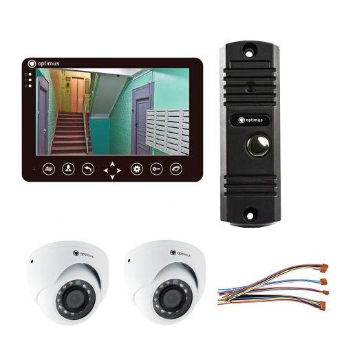 Комплект видеодомофона для дома Standart 7˝ TFT - 1Мп (2*камера)