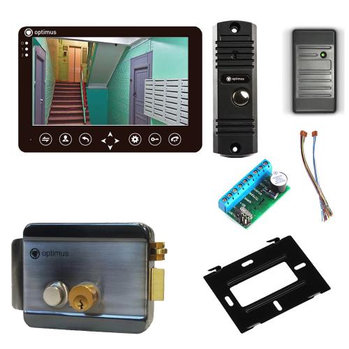 Комплект видеодомофона для дачи Standart 7˝ TFT - 1Мп (электромеханический замок, считыватель)