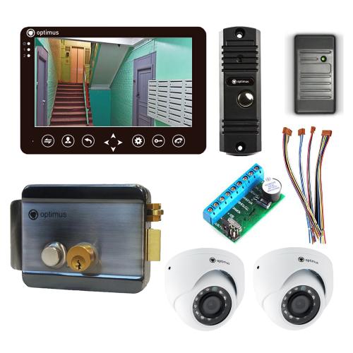 Комплект видеодомофона для дачи Standart 7˝ TFT - 1Мп (электромеханический замок, считыватель, 2*камера)