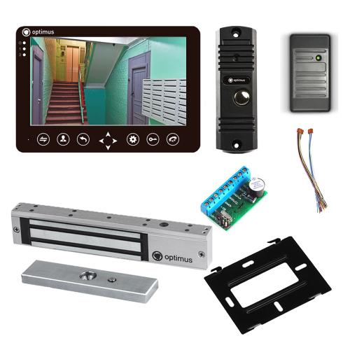 Комплект видеодомофона для дачи Standart 7˝ TFT - 1Мп (электромагнитный замок, считыватель)