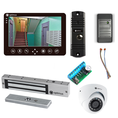Комплект видеодомофона для дачи Standart 7˝ TFT - 1Мп (электромагнитный замок, считыватель, камера)