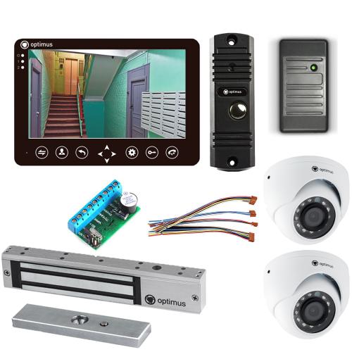 Комплект видеодомофона для дома Standart 7˝ TFT - 1Мп (электромагнитный замок, считыватель, 2*камера)