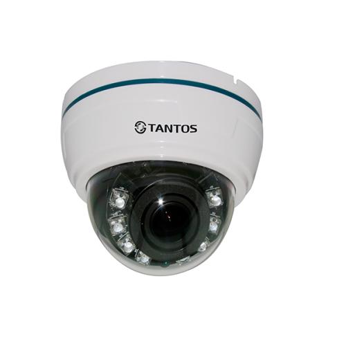 Купольная AHD Камера видеонаблюдения Tantos TSc-Di960pAHDv (2.8-12)