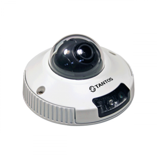 Купольная IP Камера видеонаблюдения Tantos TSi-DVm221F (3.6)
