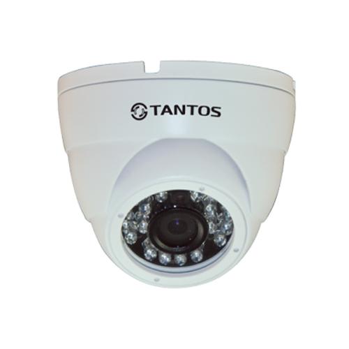 Купольная IP Камера видеонаблюдения Tantos TSi-Dle1F (3.6)
