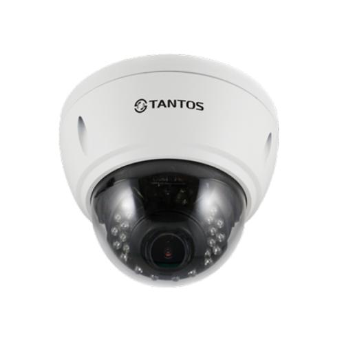 Купольная IP Камера видеонаблюдения Tantos TSi-Vle2VP (2.8-12)