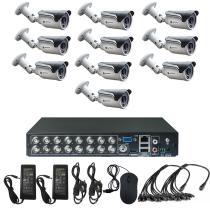 Комплект видеонаблюдения для дачи на 10 уличных камер - AHD 1Мп 720P