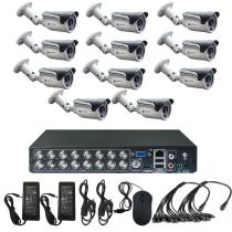 Комплект видеонаблюдения для дачи на 11 уличных камер - AHD 1Мп 720P