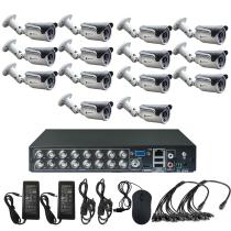 Комплект видеонаблюдения для склада на 14 уличных камер - AHD 1Мп 720P