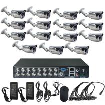 Комплект видеонаблюдения для магазина на 15 уличных камер - AHD 1Мп 720P