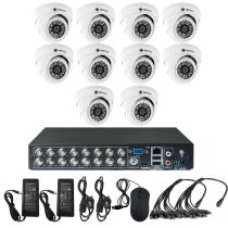 Комплект видеонаблюдения для дома на 10 камер для помещения - AHD 1Мп 720P
