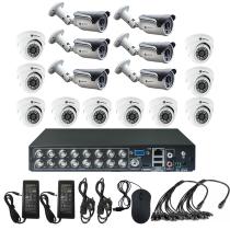 Комплект видеонаблюдения для склада на 16 камер - AHD 1Мп 720P (10 камер помещение/6 камер улица)