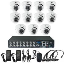 Комплект видеонаблюдения для офиса на 11 камер для помещения - AHD 1Мп 720P