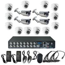 Комплект видеонаблюдения для дома на 16 камер - AHD 1Мп 720P (12 камер помещение/4 камеры улица)