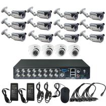 Комплект видеонаблюдения для склада на 16 камер - AHD 1Мп 720P (4 камеры помещение/12 камер улица)