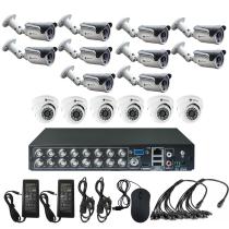 Комплект видеонаблюдения для дачи на 16 камер - AHD 1Мп 720P (6 камер помещение/10 камер улица)