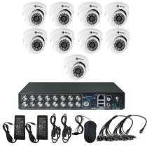 Комплект видеонаблюдения для квартиры на 9 камер для помещения - AHD 1Мп 720P