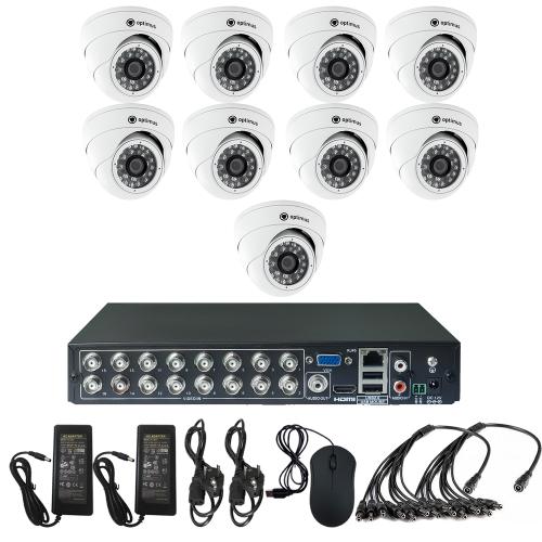 Комплект видеонаблюдения для дачи на 9 камер для помещения - AHD 1Мп 720P