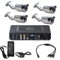 Комплект видеонаблюдения для магазина на 4 уличные камеры - AHD 1Мп 720P