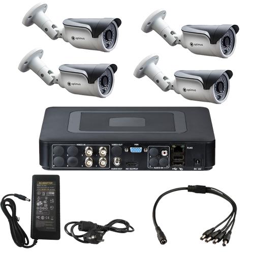 Комплект видеонаблюдения для склада на 4 уличные камеры - AHD 1Мп 720P